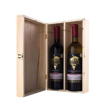 Cutie din lemn ptr 2 sticle de vin