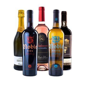 Pachet 5 vinuri + Degustare LIVE
