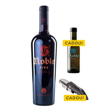 Pachet Noble Five + Tirbușon + Noble White 187ml
